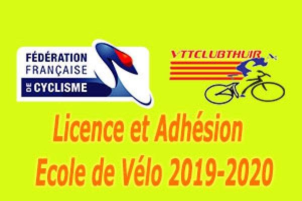 Licence et Adhésion école de vélo