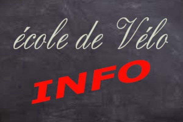 Info école de vélo